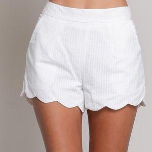 Pants - Janine Scalloped Shorts